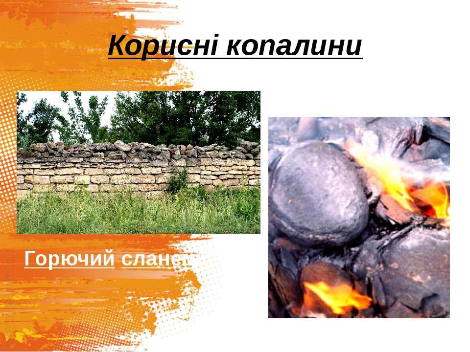 Корисні копалини Горючий сланець Вапняк