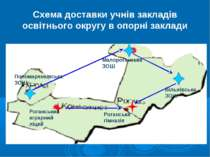 Схема доставки учнів закладів освітнього округу в опорні заклади Роганський а...