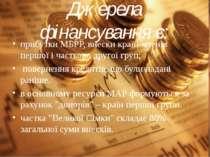 Джерела фiнансування є: прибутки МБРР, внески країн-членів першої і частково ...