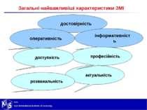 Загальні найважливіші характеристики ЗМІ достовірність інформативність операт...