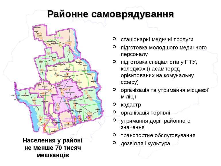 Районне самоврядування стаціонарні медичні послуги підготовка молодшого медич...