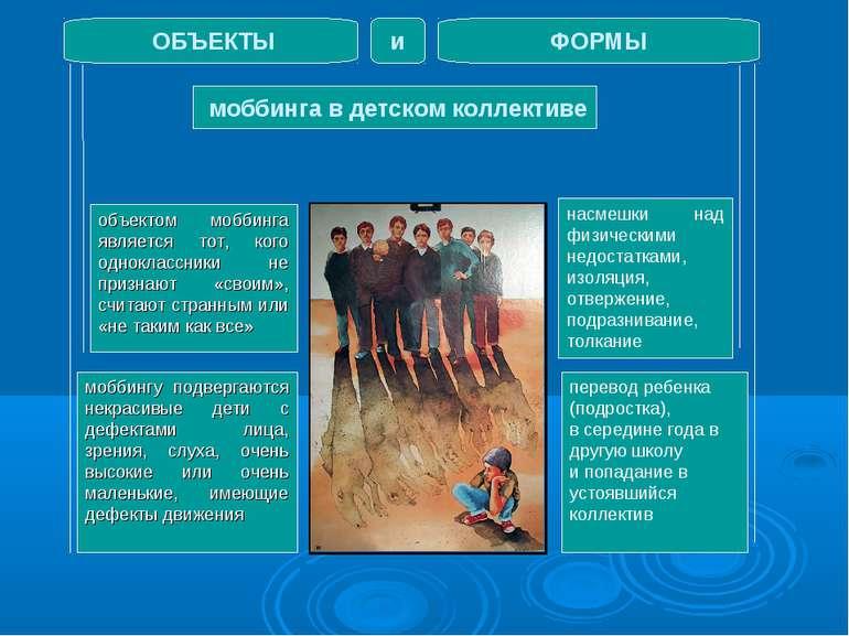 моббинга в детском коллективе ОБЪЕКТЫ ФОРМЫ и объектом моббинга является тот,...