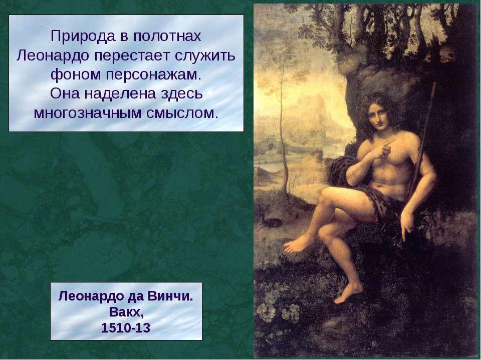 Природа в полотнах Леонардо перестает служить фоном персонажам. Она наделена ...