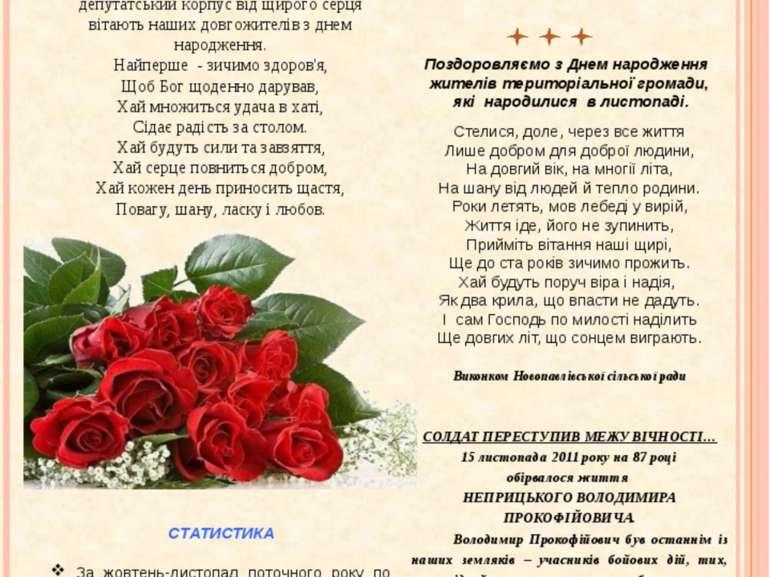 ВІТАЄМО! 26 листопада відзначила свій 90-річний ювілей жителька села Новопавл...