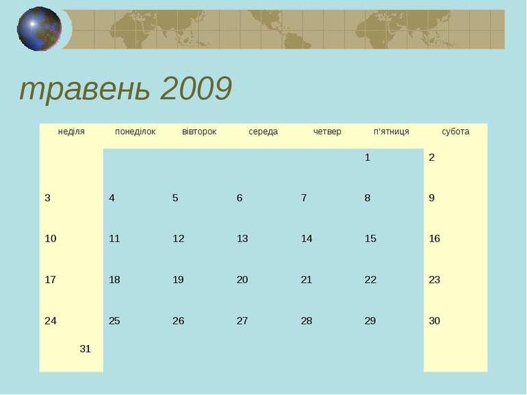 травень 2009