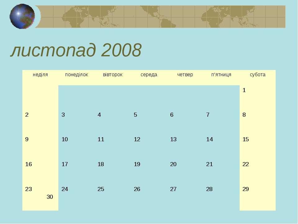 листопад 2008