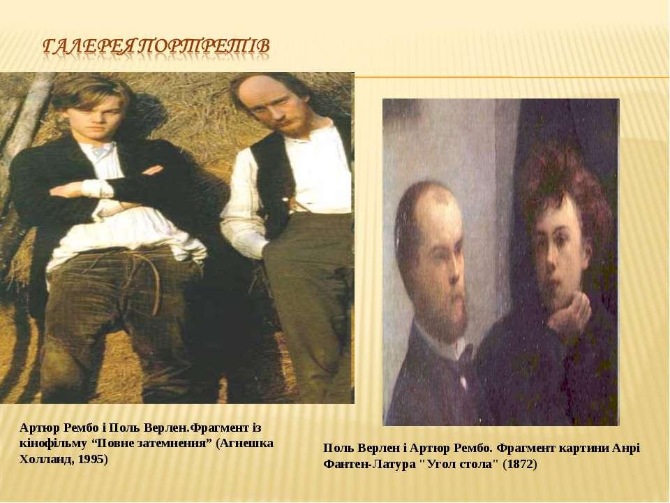 """Артюр Рембо і Поль Верлен.Фрагмент із кінофільму """"Повне затемнення"""" (Агнешка ..."""