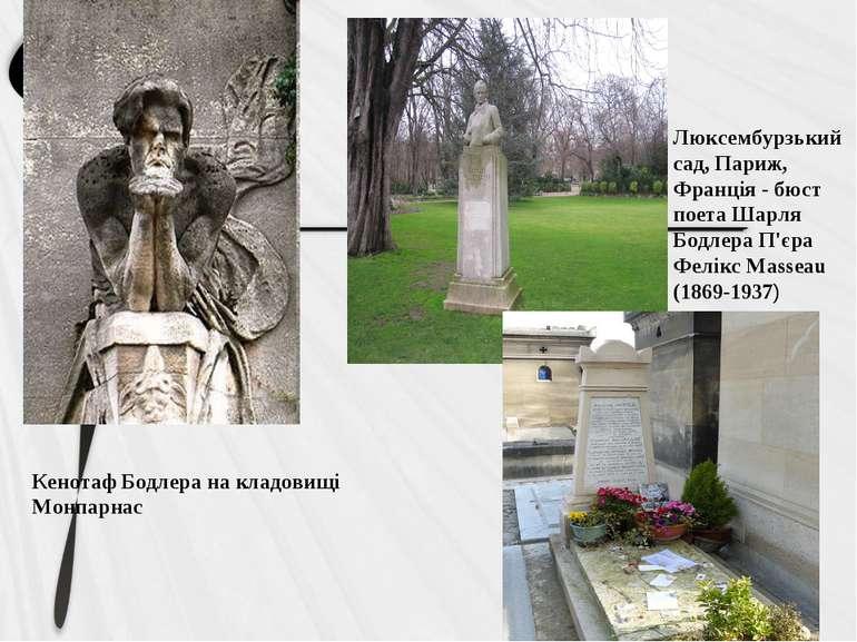 Кенотаф Бодлера на кладовищі Монпарнас Люксембурзький сад, Париж, Франція - б...