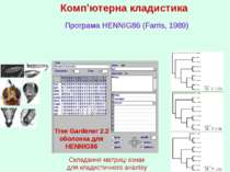 Комп'ютерна кладистика Програма HENNIG86 (Farris, 1989) Складання матриці озн...