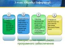 3 етап. Обробка інформації. Розв'язання задач. Побудова графіків функцій за д...