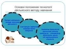 Основні положення технології діяльнісного методу навчання Процес навчання є з...