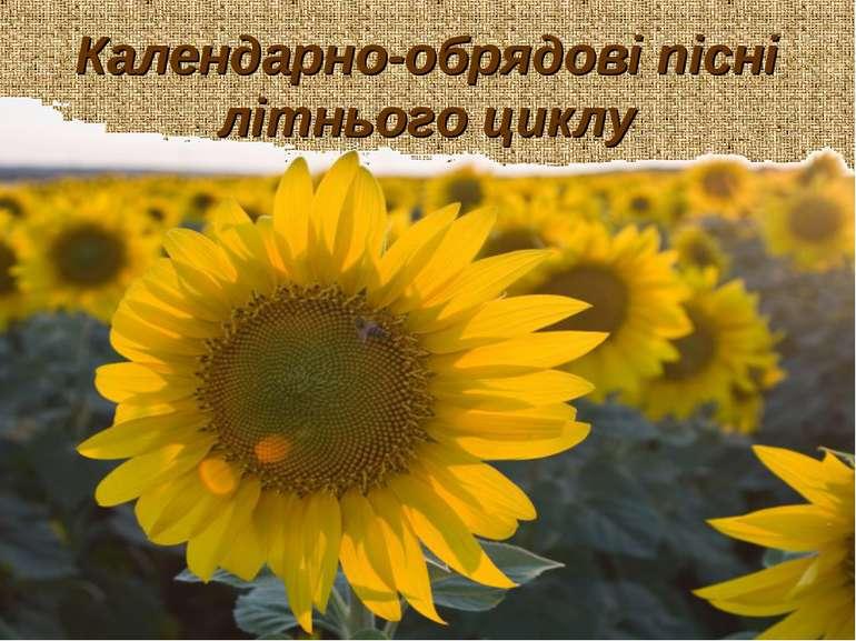Календарно-обрядові пісні літнього циклу