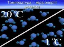 Температура – міра енергії молекул