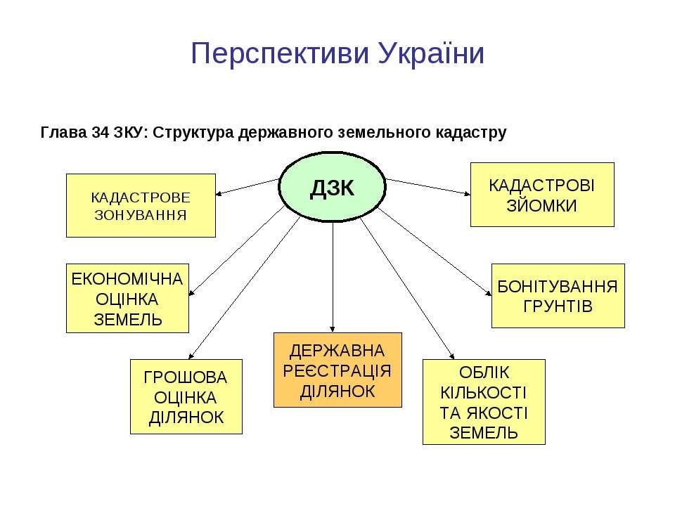 Перспективи України Глава 34 ЗКУ: Структура державного земельного кадастру ДЗ...