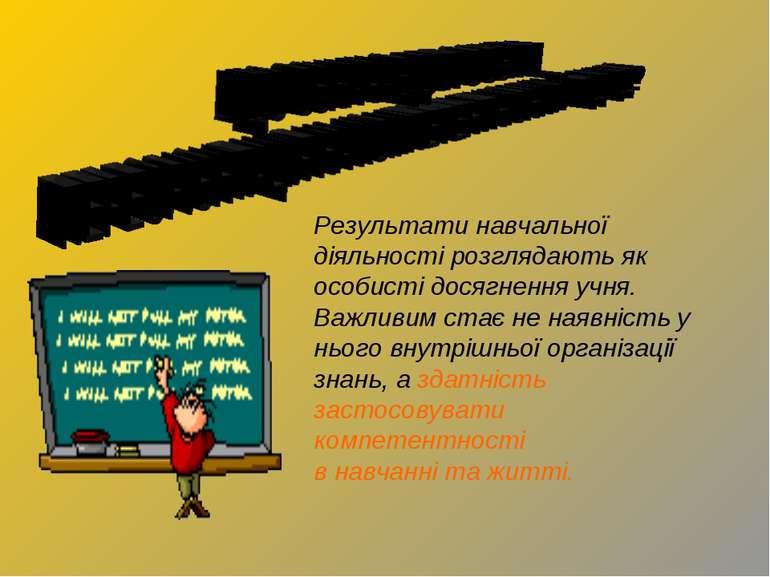 Результати навчальної діяльності розглядають як особисті досягнення учня. Важ...