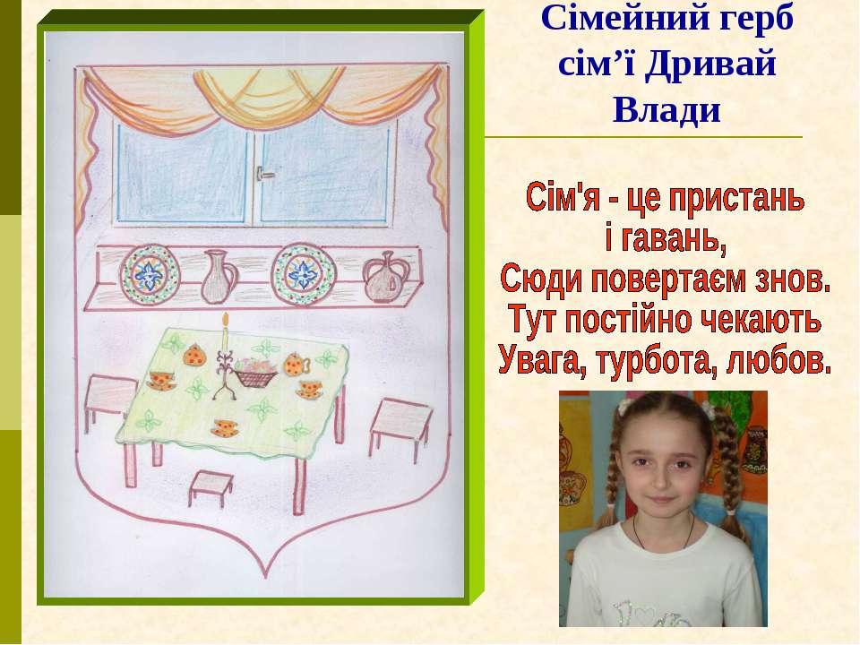 Сімейний герб сім'ї Дривай Влади