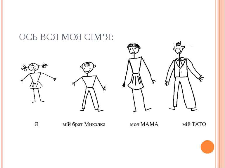 ОСЬ ВСЯ МОЯ СІМ'Я: Я мій брат Миколка моя МАМА мій ТАТО