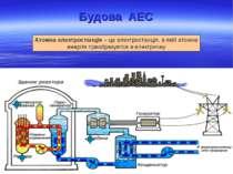 Будова АЕС Атомна електростанція – це електростанція, в якій атомна енергія п...
