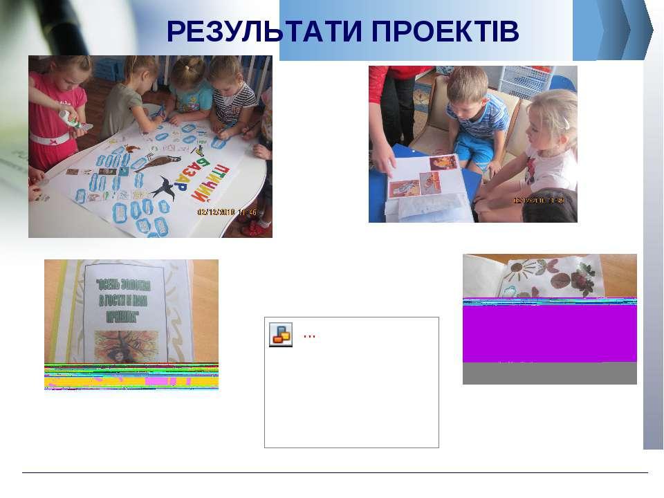 РЕЗУЛЬТАТИ ПРОЕКТІВ Company Logo