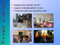 надання методичних послуг; надання інформаційних послуг; створення умов для р...