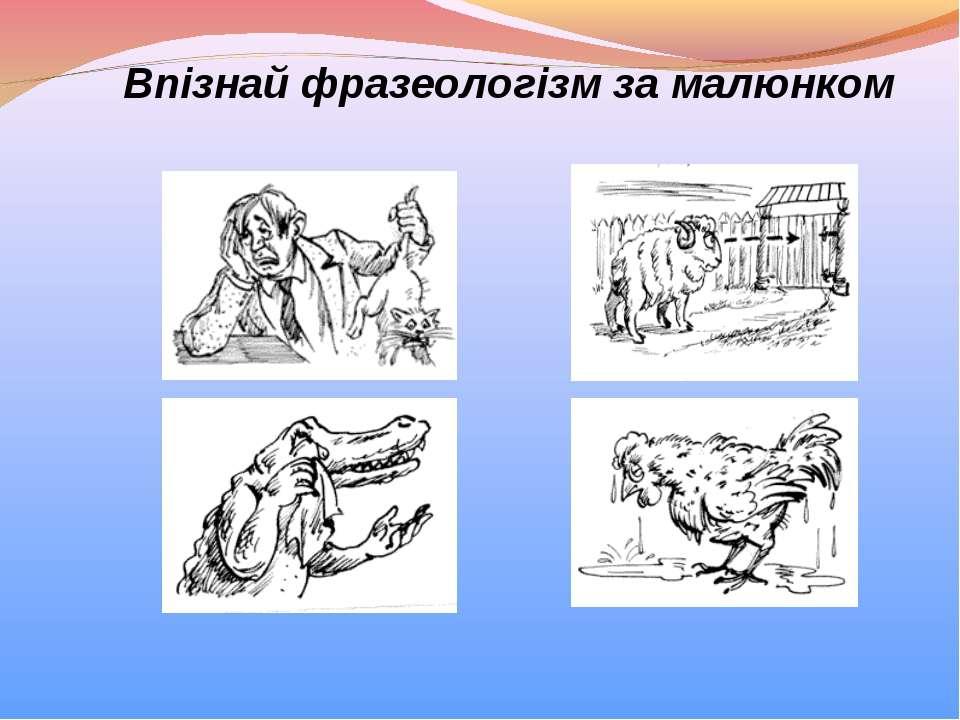 Впізнай фразеологізм за малюнком