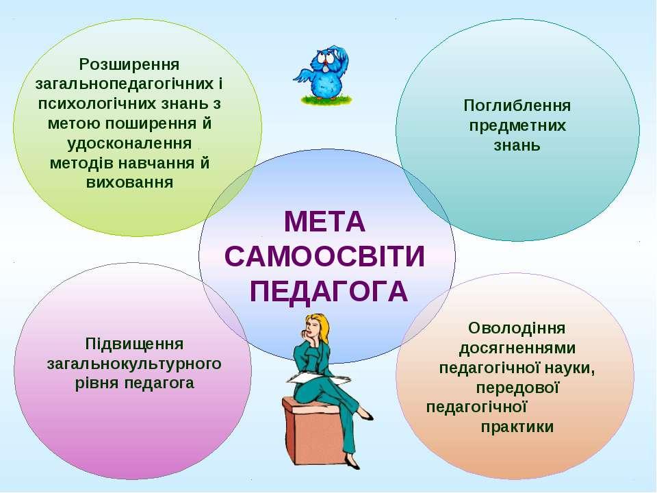 Розширення загальнопедагогічних і психологічних знань з метою поширення й удо...
