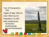 Year of Designation: 1951 Rights of Way: 500 km Area: 954.3 sq km Population:...