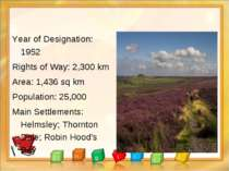 Year of Designation: 1952 Rights of Way: 2,300 km Area: 1,436 sq km Populatio...