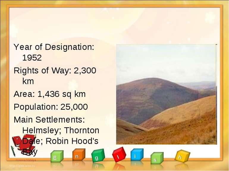 Year of Designation: 1952 Rights of Way: 2,300 km Area: 1,436 sq km Populatio...