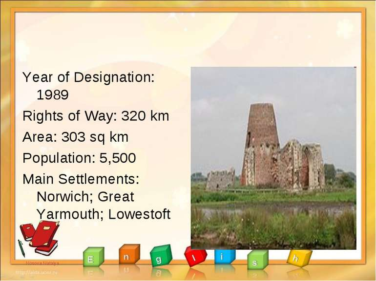 Year of Designation: 1989 Rights of Way: 320 km Area: 303 sq km Population: 5...