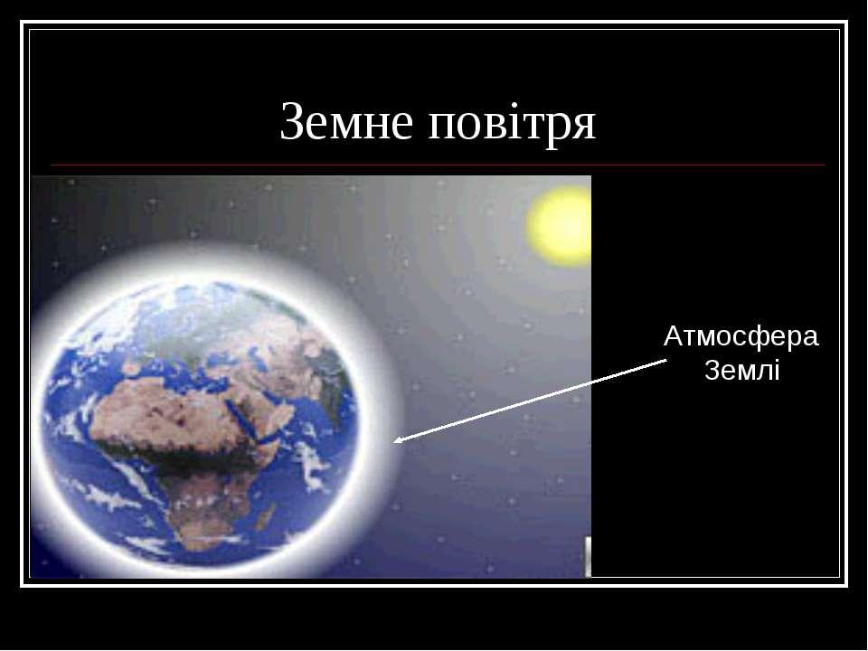 Земне повітря Атмосфера Землі