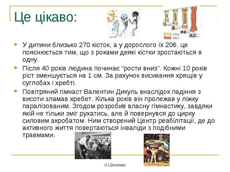 Це цікаво: У дитини близько 270 кісток, а у дорослого їх 206. це пояснюється ...