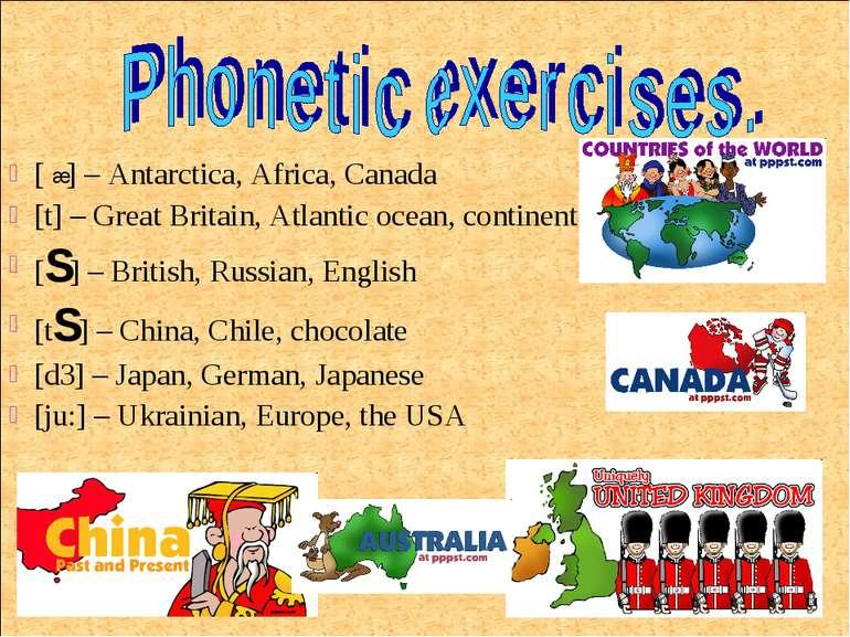 [ ] – Antarctica, Africa, Canada [t] – Great Britain, Atlantic ocean, contine...