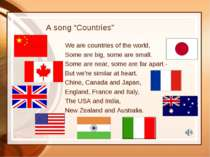 "A song ""Countries"" We are countries of the world, Some are big, some are smal..."