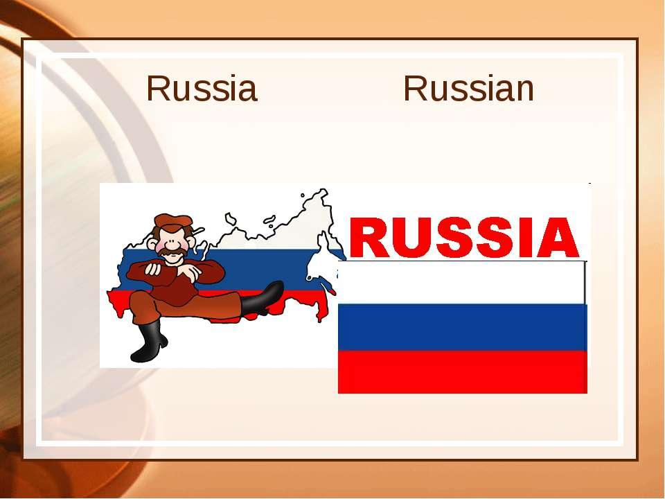 Russia Russian