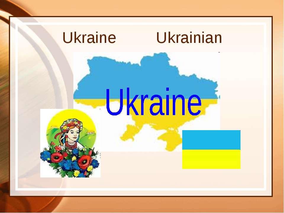 Ukraine Ukrainian
