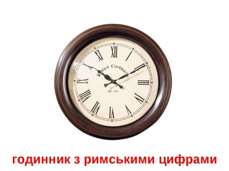 годинник з римськими цифрами