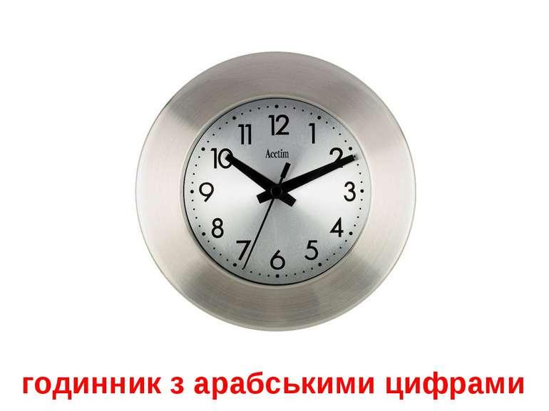 годинник з арабськими цифрами