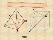 Побудова простих перерізів С А В АВС А В С