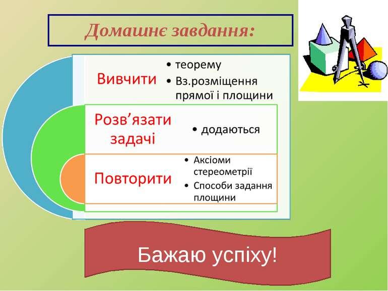 Домашнє завдання: Бажаю успіху!