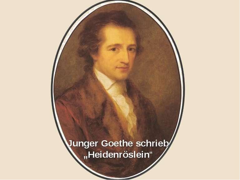 """Junger Goethe schrieb """"Heidenröslein"""""""