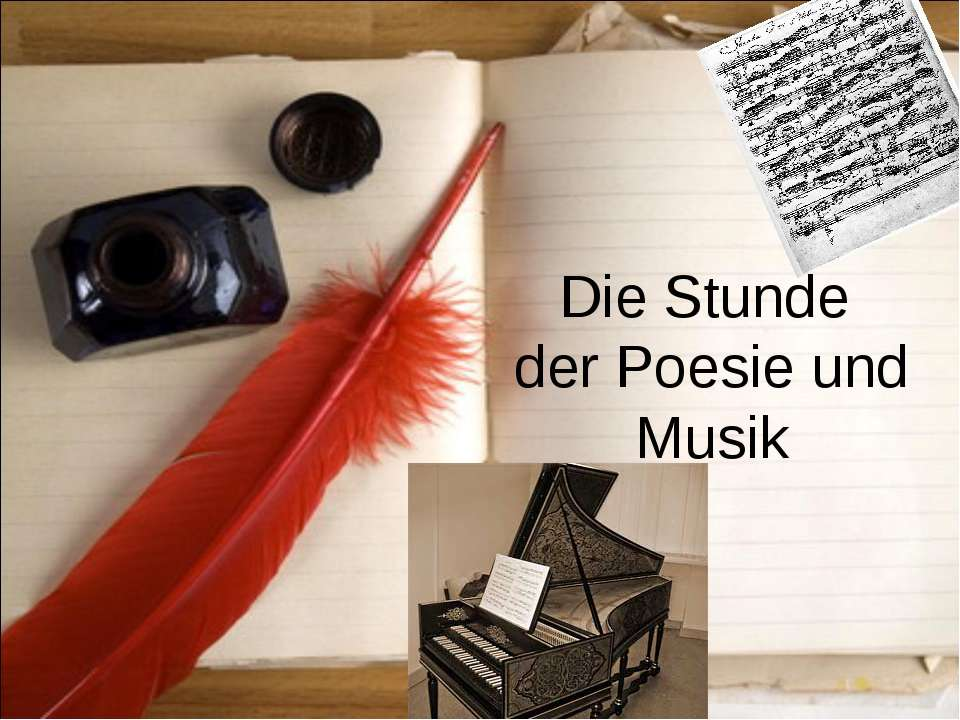 Die Stunde der Poesie und Musik