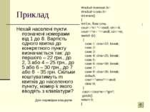 Приклад Нехай населені пукти позначені номерами від 1 до 8. Вартість одного к...