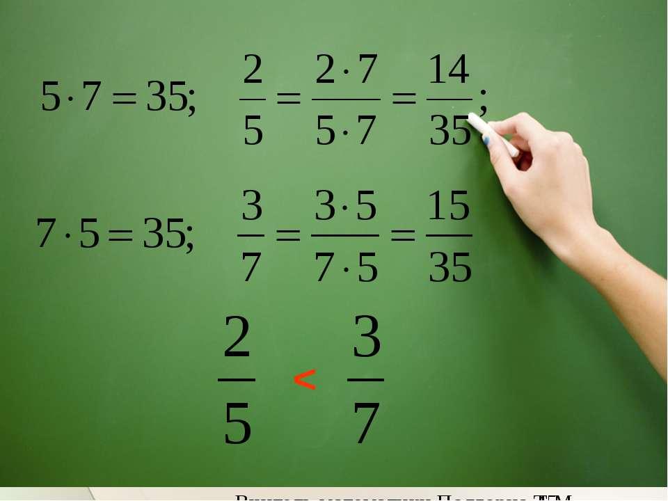 < Вчитель математики Подгорна Т.М.