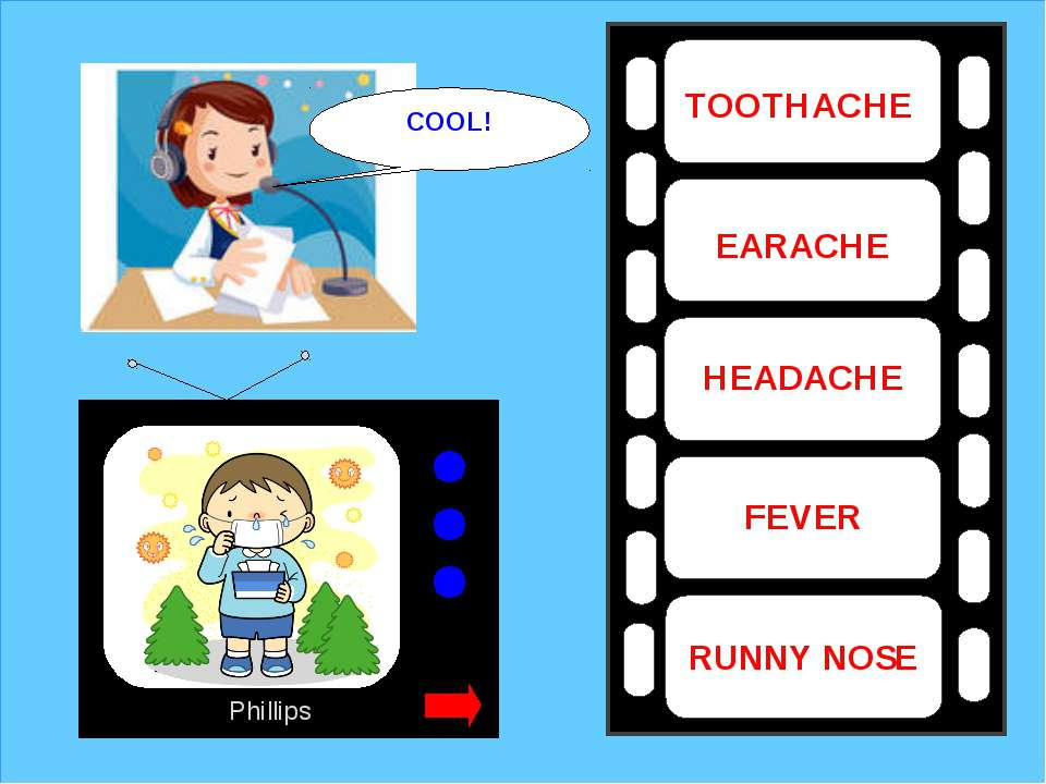 Phillips TOOTHACHE EARACHE HEADACHE FEVER RUNNY NOSE COOL!