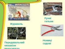 Ручні гальма Ножиці садові Журавель Передавальний механізм велосипеда