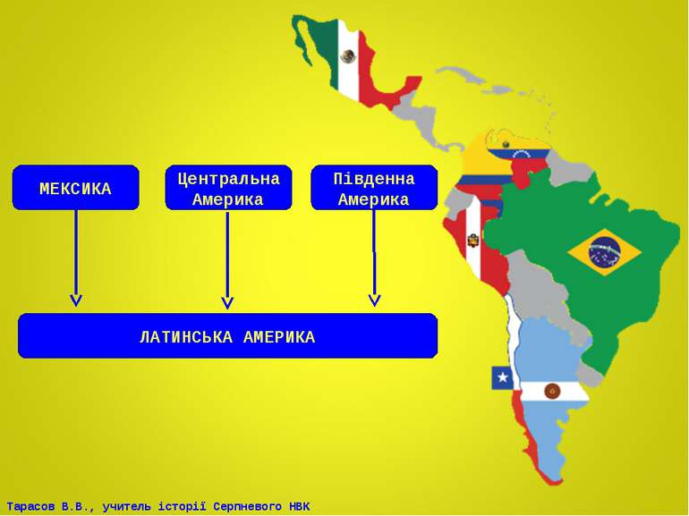 МЕКСИКА Південна Америка Центральна Америка ЛАТИНСЬКА АМЕРИКА Тарасов В.В., у...