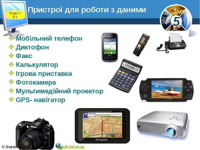Мобільний телефон Диктофон Факс Калькулятор Ігрова приставка Фотокамера Мульт...