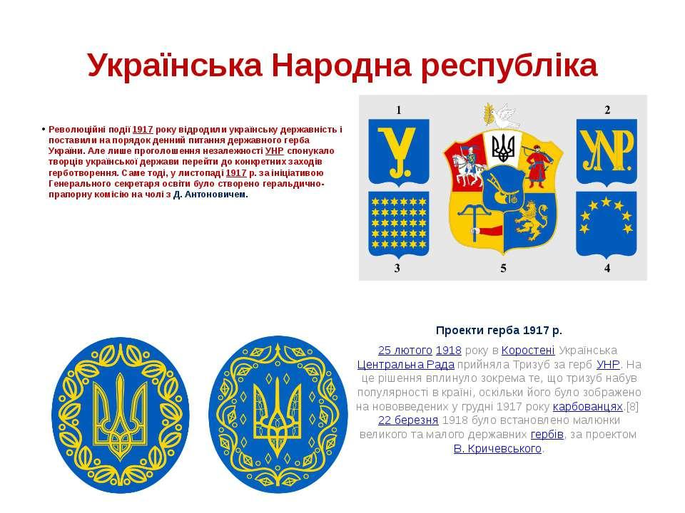 Українська Народна республіка Революційні події 1917 року відродили українськ...