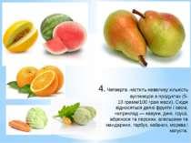 4.Четверта-містить невелику кількість вуглеводів в продуктах (5-10грамм/10...